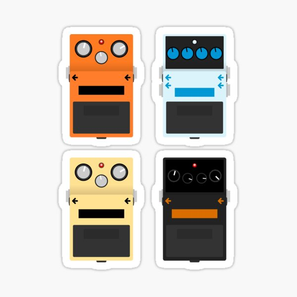 Guitar Pedals - Set #1 Sticker
