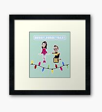 Stop Motion Christmas - Jeff/Annie (Style C) Framed Print