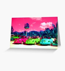 Psychedelic Cars 2 Greeting Card
