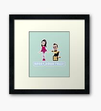 Stop Motion Christmas - Jeff/Annie (Style D) Framed Print