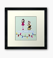 Stop Motion Christmas - Jeff/Annie (Style E) Framed Print