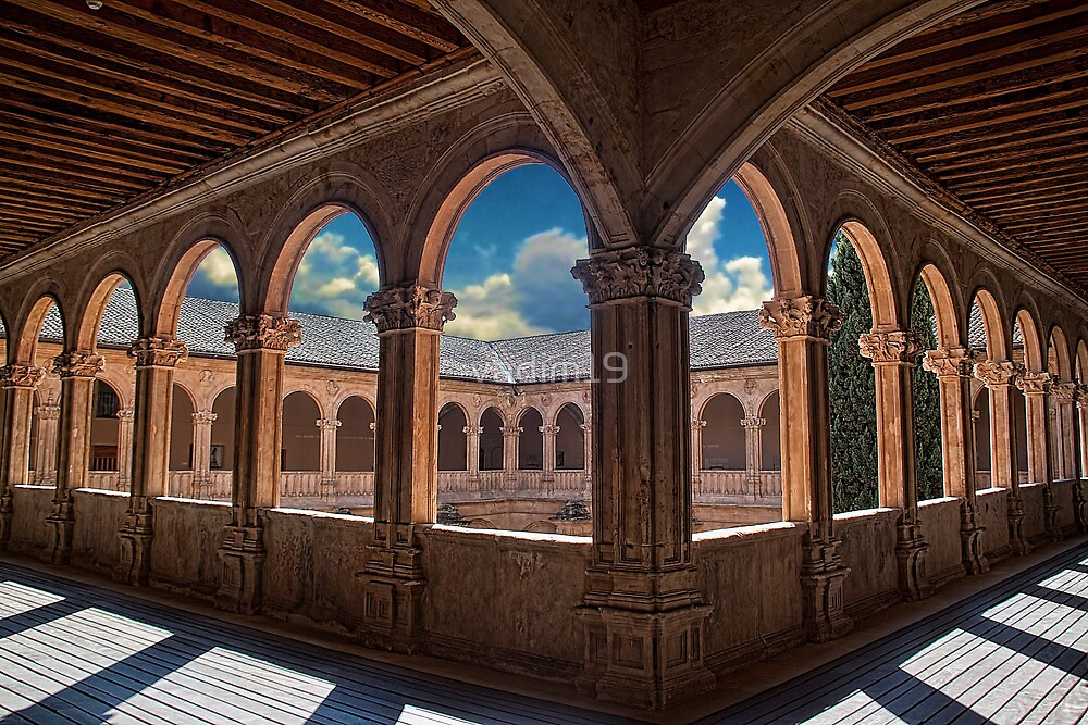 Spain. Salamanca. San Esteban Church. Cloisters. by vadim19