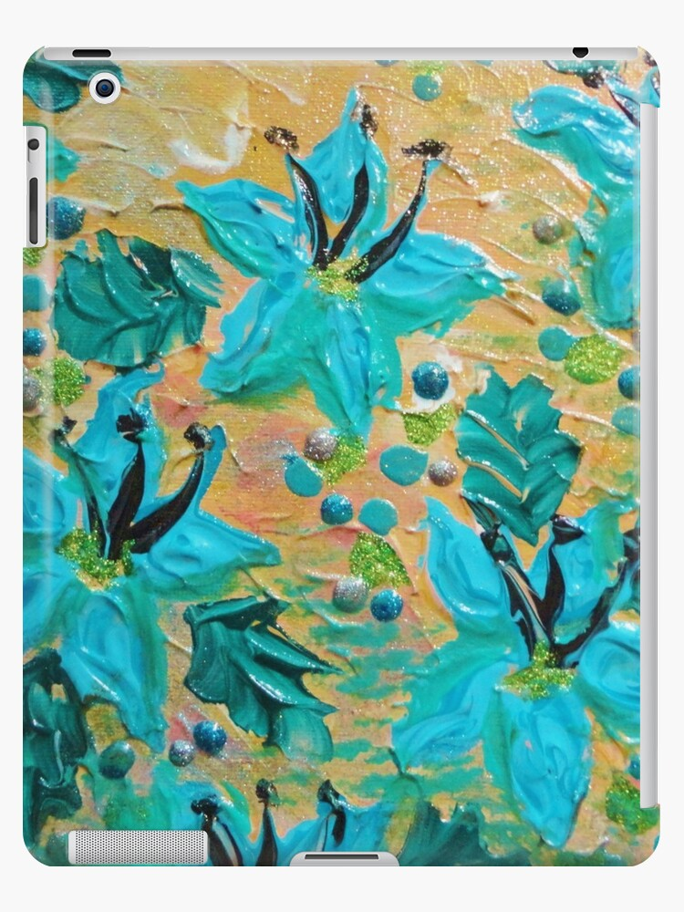 Blooming Beautiful Modern Abstract Acrylic Tropical Floral