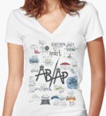 Fall Out Boy Lyric Art Women's Fitted V-Neck T-Shirt
