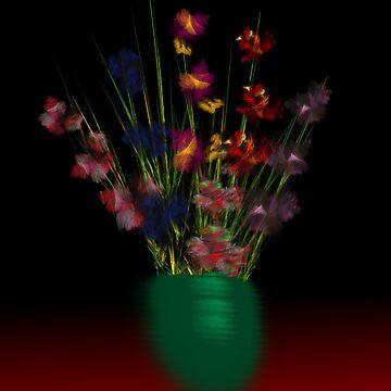 Dark Iris In Vase by CarmanTurner