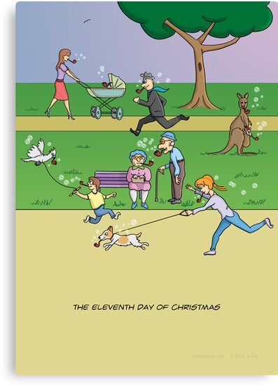 The Eleventh Day of Christmas (11 Pipers Piping) by Thingsesque