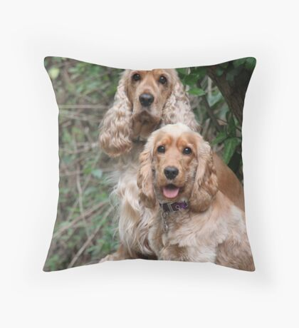 Portrait: Dad & Daughter Throw Pillow