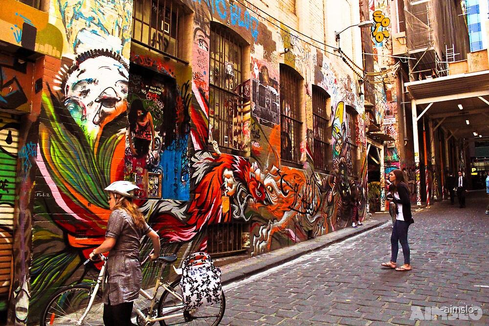 Hosier Laneway Grafitti by -aimslo-
