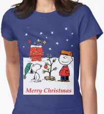 Charlie Christmas Tree Women's Fitted T-Shirt