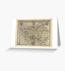 Regional Map of Brittany and Armorica France (1594) Greeting Card