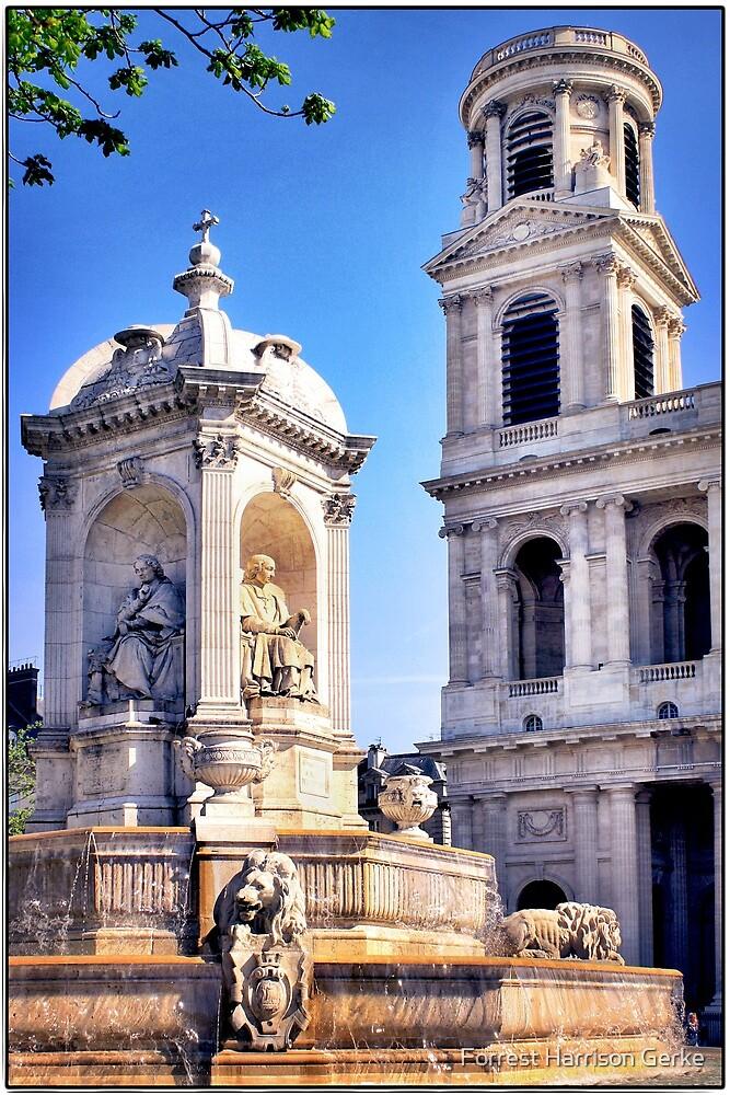 Saint Sulpice, Paris, France.  by Forrest Harrison Gerke