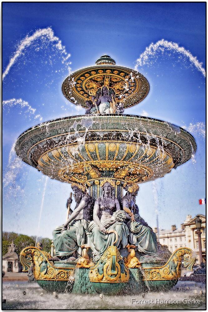 Fontaine des Fleuves, Paris.  by Forrest Harrison Gerke