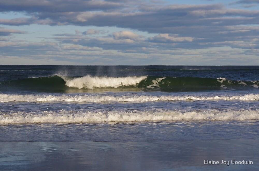Breakers at Salisbury Beach by Elaine Joy Goodwin