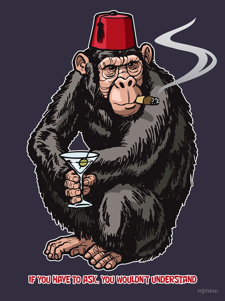 Chimp With A Fez by mjmew
