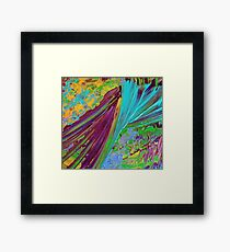 COLOR CHAOS Wild Vibrant Colorful Abstract Acrylic Painting Gift Art Decor Framed Print
