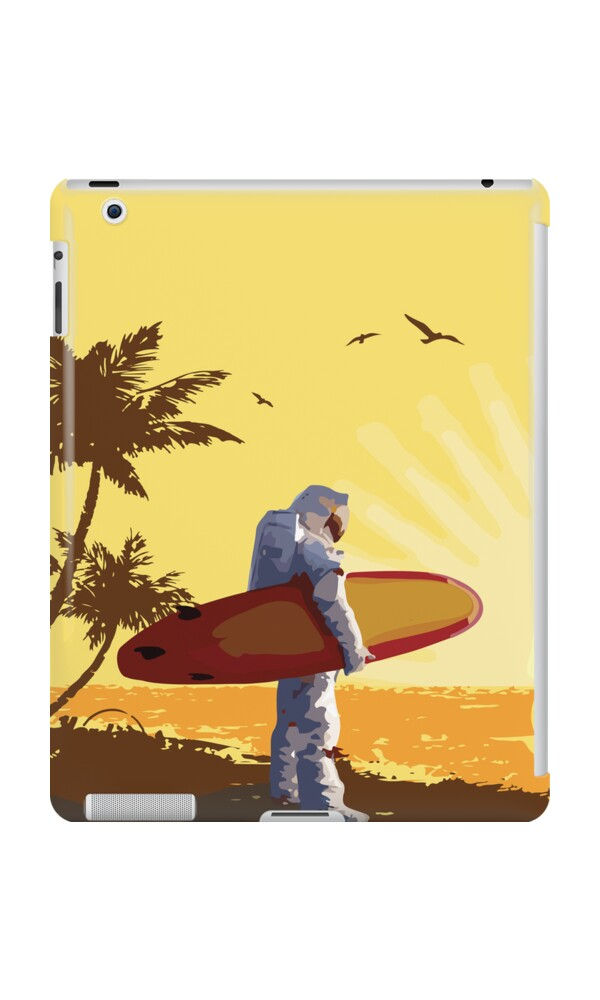 """Astronaut Surfer"" iPad Cases & Skins by elmindo 