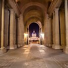 Passage in Louvre to bridge of arts in Paris, France  by hpostant