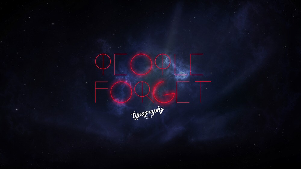 people forget. by quecreative