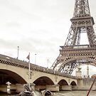 Paris, the Seine river and a bridge in France  by hpostant