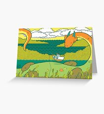 Loch Nessie Greeting Card