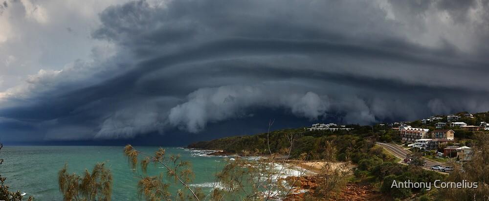 Coolum Beach Storm by Anthony Cornelius