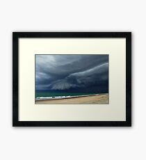 Sunrise Beach Storm Framed Print
