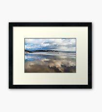 Clouds In The Sand - Lyme Regis Framed Print
