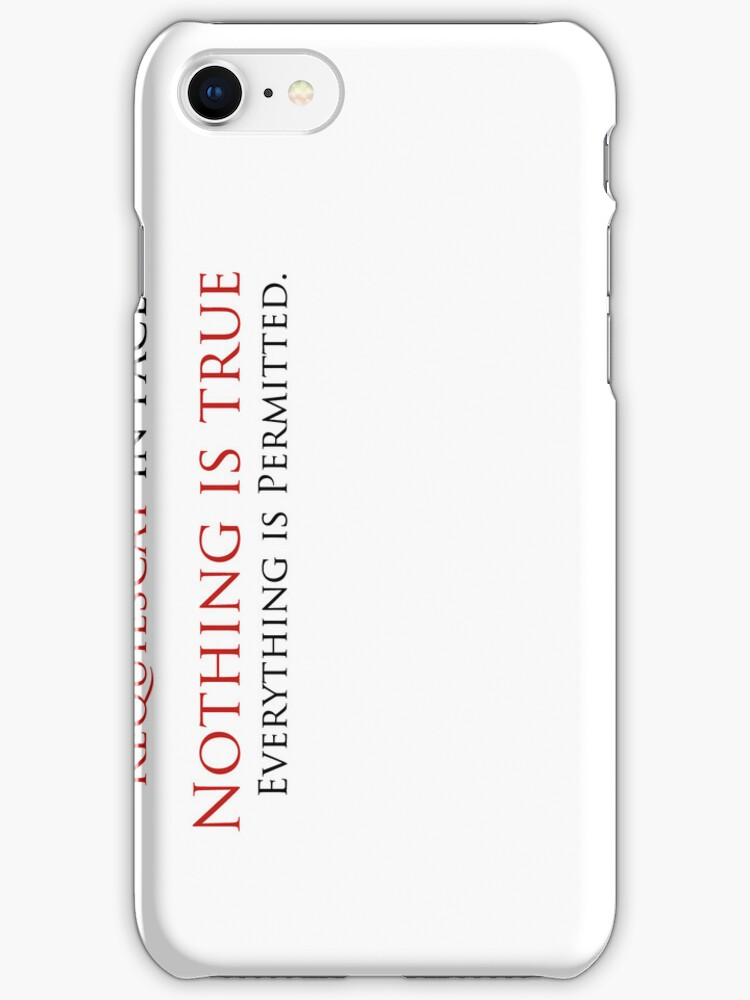 Nothing is True, Everything is permitted case Case (White) by Vladyslav Varvanin