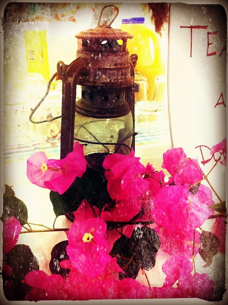 antique oil lantern by Mandy Roberts
