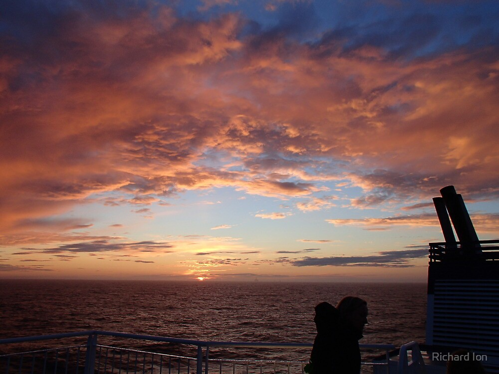 Sunset over the North Sea by Richard Ion