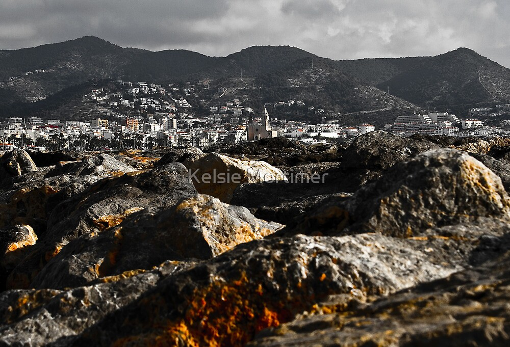 Sitges from the Rocks by Kelsie Mortimer