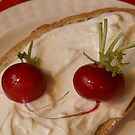 Two Red Radishes by Gilberte