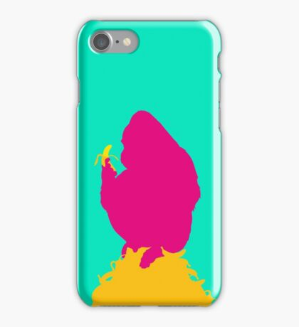 Gorilla Vs Banana No.1 iPhone Case/Skin