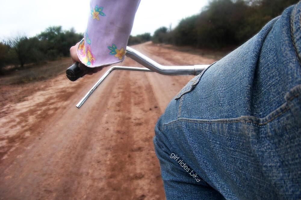 Girl Rides Bike by cloudheadART