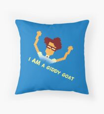 Maurice Moss - I AM a giddy goat (I.T. Crowd Design) Throw Pillow