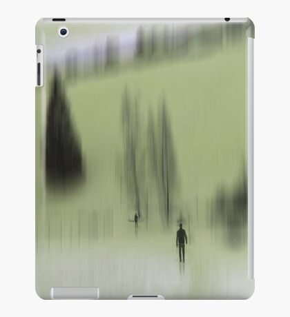 Winter Walk (green), Fischbacher Alps, Austria iPad Case/Skin