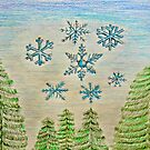 Snowflakes by thuraya arts