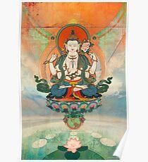 Póster Meditación de Buda