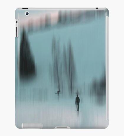 Winter Walk (blue), Fischbacher Alps, Austria iPad Case/Skin