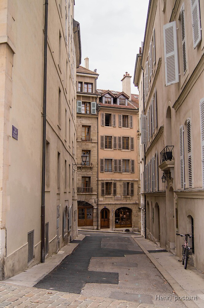 Quiet street in Geneva, Switzerland  by hpostant