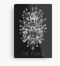 The Force Metal Print