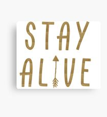 Stay Alive - Hunger Games (Gold) Canvas Print