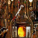 Steam Punk Boiler iPhone Case by Larry Oates