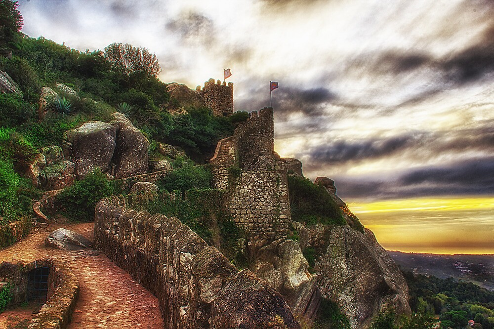Castle of the Moors, Sintra Portugal by Taylor Moore