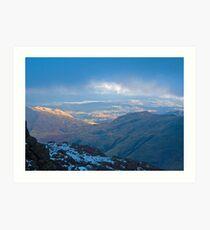 Langdale skies, Lake District Art Print