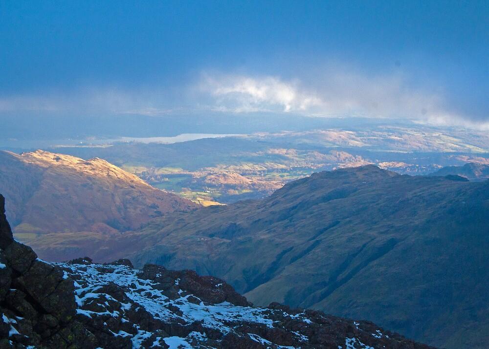 Langdale skies, Lake District by Rebecca Mason