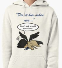 Did it hurt when you fell from Heaven? Pullover Hoodie
