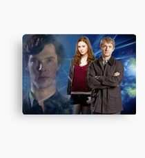 Sherlock,Amy and John Canvas Print