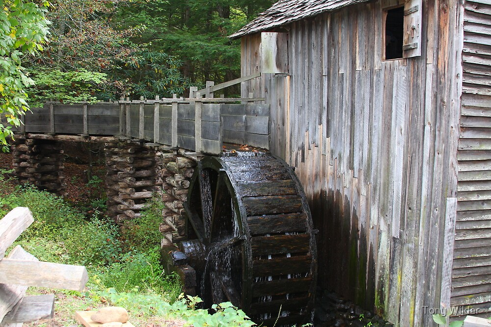 Cable Mills Grist Mill - Cades Cove Tennessee by Tony Wilder