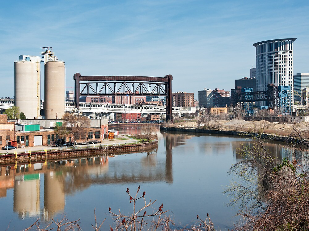 Cuyahoga River View by StonePhotos